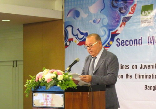 Francisco Legaz. Day one – Second Meeting of the APCJJ Subcommittee for ASEAN